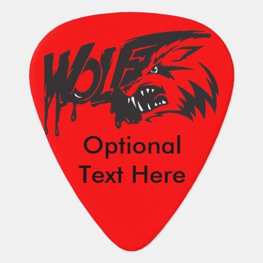 Fierce Vicious Wolf Guitar Pick