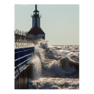 Fierce Waves At St Joseph Postcard