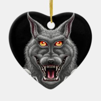 Fierce Werewolf Ceramic Ornament