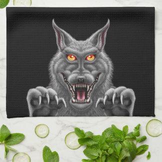 Fierce Werewolf Kitchen Towel