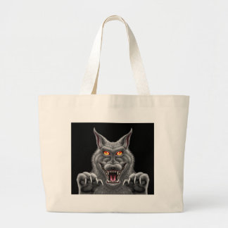 Fierce Werewolf Large Tote Bag