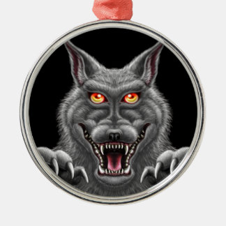 Fierce Werewolf Metal Ornament