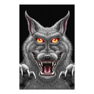 Fierce Werewolf Stationery