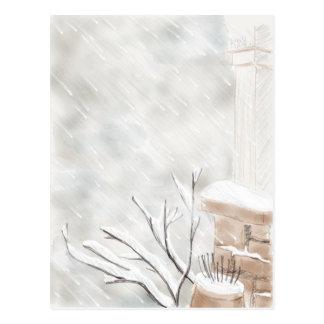 Fierce Winter Storm Postcard