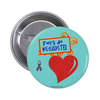 Fiers de nos classes TED 2 Inch Round Button