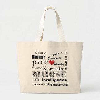 Fierté-Attributs d'infirmière+coeur rouge Sac En Toile Jumbo