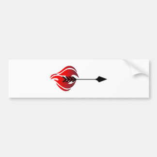 Fiery Arrow Bumper Sticker