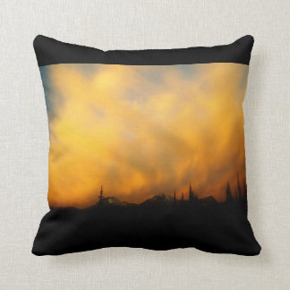 Fiery clouds - Clouds on Fire Throw Pillow