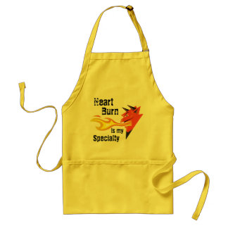 Fiery Devil's Head_Heart Burn is my Specialty Standard Apron