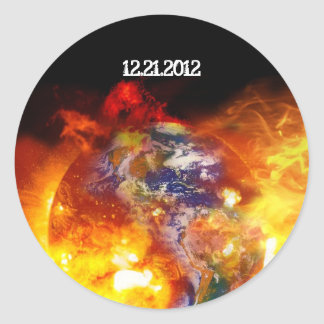 Fiery End of the Earth Apocalypse Round Sticker