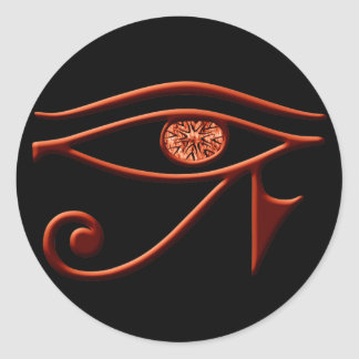 Fiery Eye Of Horus Stickers