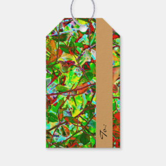 Fiery Fall Leaves Custom Pack Of Gift Tags