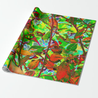 Fiery Fall Leaves Wrapping Paper