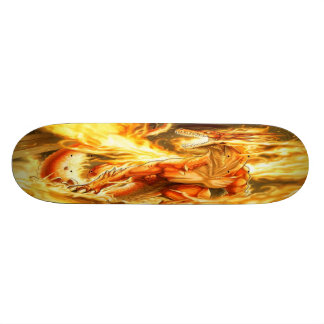 Fiery Fantasy Dragon Skate Deck