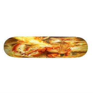 Fiery Fantasy Dragon Skateboard