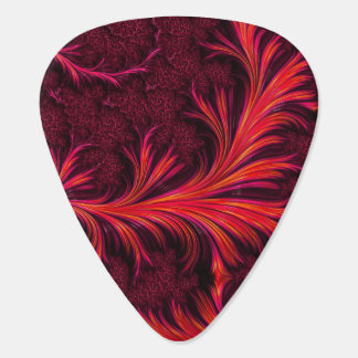 Fiery Fractal Guitar Picks Pick