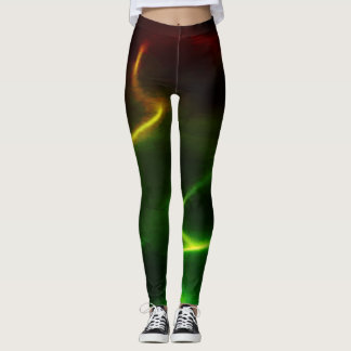 Fiery Green Flames Leggings