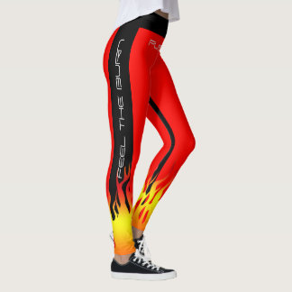 Fiery Gym Aerobic Fitness Yoga Workout Leggings