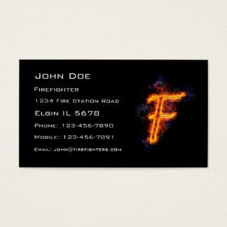 Fiery Letter F Business Card