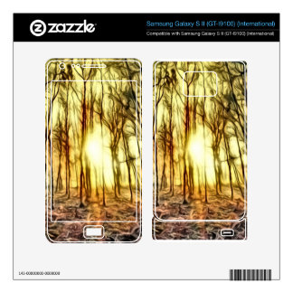 Fiery Night for Your Cell Phone Samsung Galaxy S II Skins