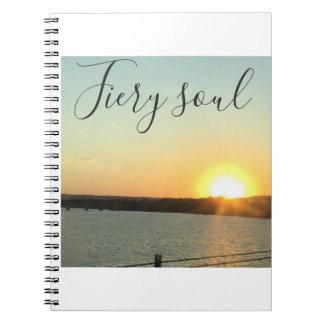 fiery note book