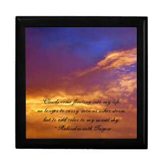 Fiery November Sky-with Quote Keepsake Boxes