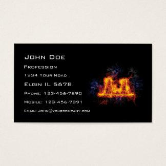 Fiery Nuclear Facility Business Card