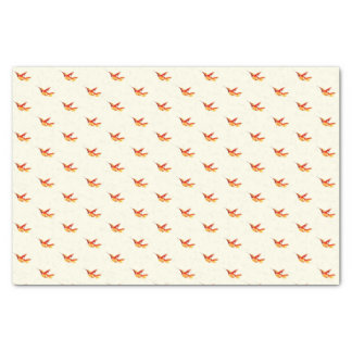 """Fiery One"" Hummingbird Print Tissue Paper"