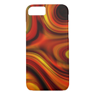 Fiery Orange and Yellow Pattern iPhone 8/7 Case