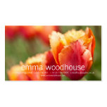 Fiery Orange Fringed Tulip Double-Sided Standard Business Cards (Pack Of 100)