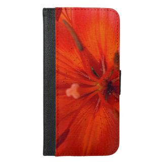 Fiery Orange & Red Lily II iPhone 6/6s Plus Wallet Case