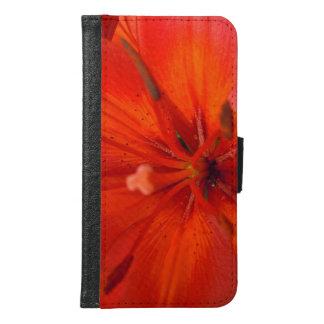 Fiery Orange & Red Lily II Samsung Galaxy S6 Wallet Case