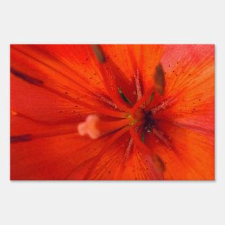 Fiery Orange & Red Lily II Sign