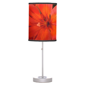 Fiery Orange & Red Lily II Table Lamps