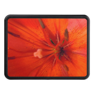 Fiery Orange & Red Lily II Trailer Hitch Cover