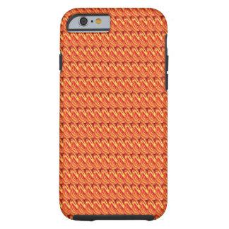 Fiery Orange Spikes iPhone 6 Case