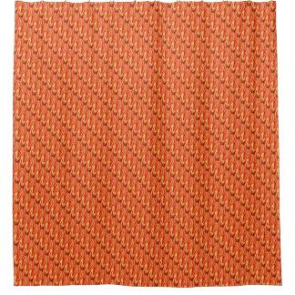 Fiery Orange Spikes Shower Curtain