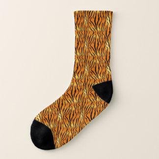 Fiery Orange Tiger Print Socks