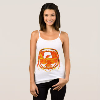 Fiery Phoenix Ladies Spaghetti Strap Tank Top