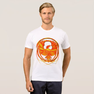 Fiery Phoenix Men's Poly-Cotton T-Shirt