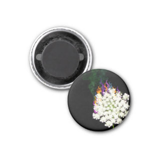 Fiery Queen Anne's Lace Round Magnet