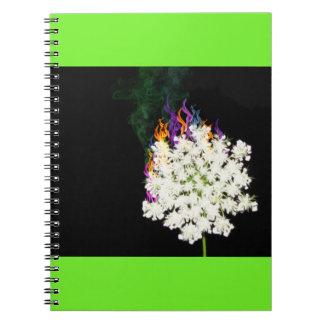 Fiery Queen Anne's Lace Spiral Notebook