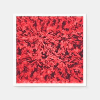 Fiery Red Disposable Napkins