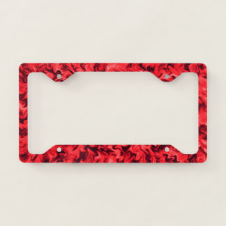 Fiery Red License Plate Frame