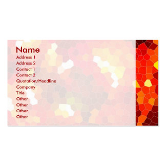 Fiery red stained glass business card templates