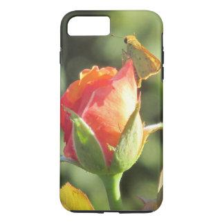 Fiery Skipper Butterfly on Rosebud Case-Mate iPhone Case