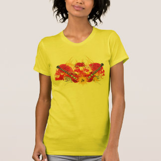 Fiery Skulls And Guitars T-Shirt