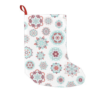 Fiery Snow Flakes Small Christmas Stocking
