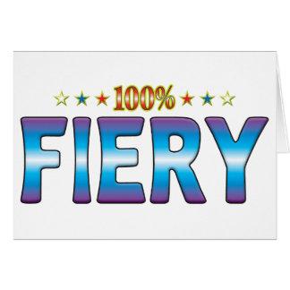 Fiery Star Tag v2 Card