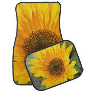 Fiery Sunflower Car Mat